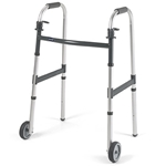 "Invacare I-Class Dual-Release Walker with 5"" Fixed Wheels"