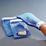 Sammons Preston Terry Cloth Antimicrobial Wash Mitts
