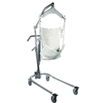 Drive Medical Hydraulic Deluxe Chrome-Plated Patient Lift  with 6-Point Cradle - 450 lbs.