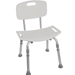 Drive Medical Deluxe Aluminum Shower Chair  With Tool-free Removable - 4/cs Back