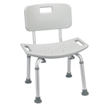 Drive Medical Deluxe Aluminum Bath Chair  With Tool-free Removable Back - 1/cs
