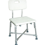 Drive Medical Deluxe Bariatric Shower Chair with Cross-Frame Brace  With Tool-free Removable Back - 1/cs & 2/cs