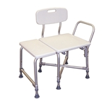 Drive Medical Deluxe Bariatric Transfer Bench with Cross-Frame Brace - 2/cs