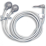 Callcare Air Activated Double Momentary Nurse Call Cords - Qtr Inch Phone Plug - Oxygen Safe