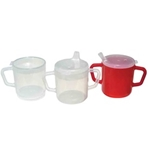 Alimed   Translucent Mugs with 2 Lids