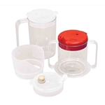 Alimed Clear Mugs with 2 Lids